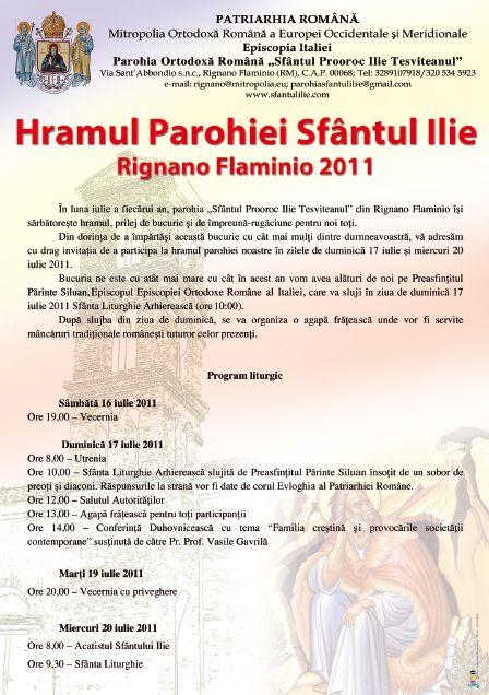 Hramul Parohiei Sf. Ilie Rignano Flaminio